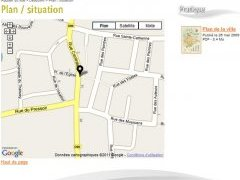 Plan de situation googlemap par article