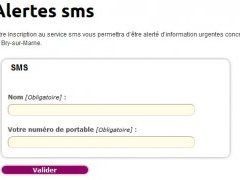 Inscription alerte sms